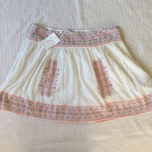NWT Joie Boho Embroidered Skirt Sz 10